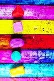 从彩色塑泥的几何形状 库存图片