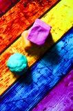 从彩色塑泥的几何形状 免版税图库摄影