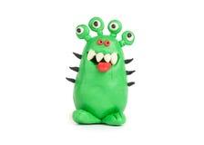 彩色塑泥的绿色妖怪 免版税库存照片