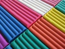 彩色塑泥纹理 库存照片