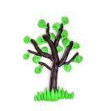 彩色塑泥结构树 库存照片