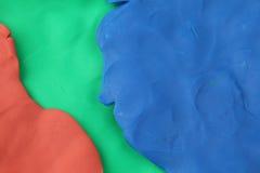 彩色塑泥背景 库存照片