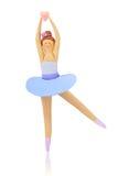 彩色塑泥芭蕾女孩舞蹈家 皇族释放例证