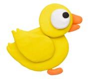 彩色塑泥黏土鸭子 库存照片