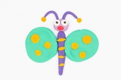 彩色塑泥蝴蝶 库存照片