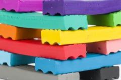 彩色塑泥 库存图片