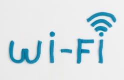 彩色塑泥Wi-Fi标志 库存图片