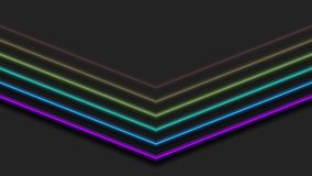 彩色彩虹霓虹箭头摘要视频动画 向量例证