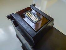 彩色打印机喷墨机头弹药筒 免版税库存照片