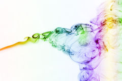 彩色烟幕曲线 库存照片