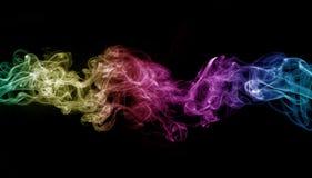 彩色烟幕 库存图片