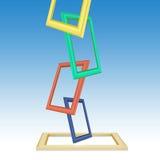 彩色照片构筑抽象背景 免版税图库摄影