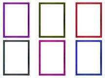 彩色照片框架 免版税库存照片