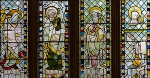 彩色玻璃在圣约翰教堂A2 免版税库存照片