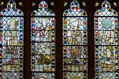 彩色玻璃在圣约翰教堂A1 免版税库存照片
