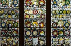 彩色玻璃在圣约翰教堂B2 免版税库存照片