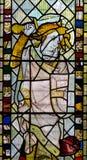 彩色玻璃在圣约翰2的教堂A关闭 库存照片