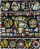 彩色玻璃在圣约翰2的教堂B关闭 图库摄影