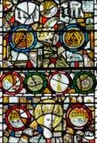 彩色玻璃在圣约翰4的教堂B关闭 库存图片