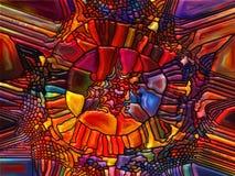 彩色玻璃方式  图库摄影