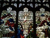 彩色玻璃爱德华Burne-Jones 库存照片