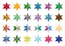 彩色组星形 库存照片