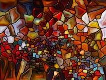 彩色玻璃共同作用  库存照片
