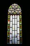 彩色玻璃在帕多瓦,伊斯坦布尔圣安东尼教会里  库存图片