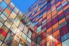 彩色玻璃墙壁 免版税库存照片