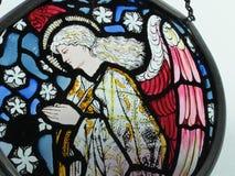 彩色玻璃天使 免版税库存照片
