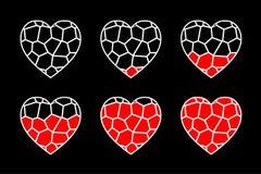 彩色玻璃心脏传染媒介 免版税库存图片