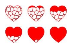 彩色玻璃心脏传染媒介 免版税库存照片