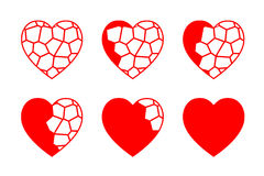 彩色玻璃心脏传染媒介 免版税图库摄影