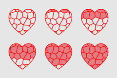 彩色玻璃心脏 免版税库存图片