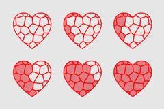 彩色玻璃心脏 库存图片