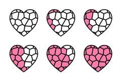 彩色玻璃心脏 向量例证