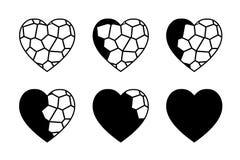 彩色玻璃心脏 图库摄影