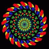 彩色玻璃抽象 皇族释放例证