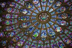 彩色玻璃故事 库存图片