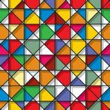 彩色玻璃无缝的样式 免版税库存图片