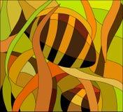彩色玻璃样式有水下的看法,传染媒介例证 免版税库存图片