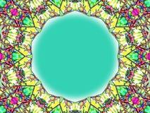 彩色玻璃框架 免版税库存图片