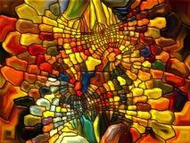 彩色玻璃的元素 免版税库存图片