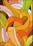 彩色玻璃的抽象样式 免版税库存图片