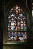 彩色玻璃艺术在维恩 免版税库存图片