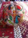 彩色玻璃花瓶 库存照片