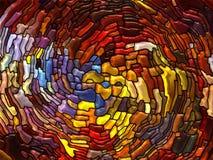 彩色玻璃魔术  免版税库存图片