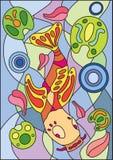 彩色玻璃鱼 免版税库存图片