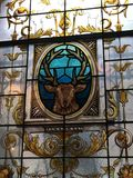 彩色玻璃鹿 免版税图库摄影
