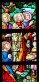 彩色玻璃-哺养许多 免版税库存图片